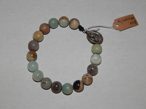 Bracelet - B49 - Leather / Amazonite - Muggie Jewelry
