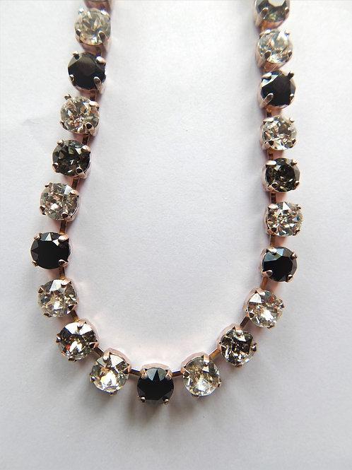 Swarovski Black / Smoky Crystal Necklace - The Sparkling Thistle
