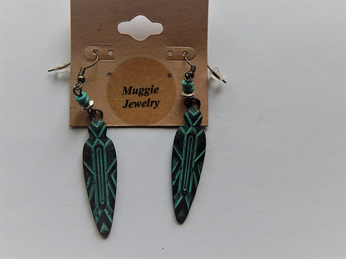 Earrings - Item E23 - Tribal Drop - Muggie Jewelry