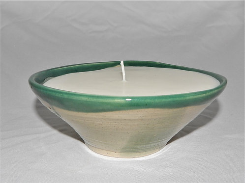 Handmade Pottery with Candle - Cedarwood & Lavender - CC103