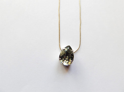 Swarovski Smokey Pear Necklace - The Sparkling Thistle