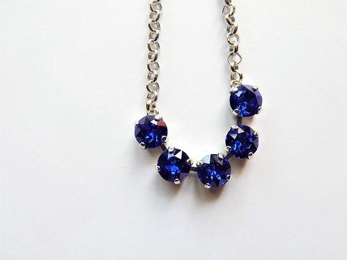 Swarvoski Necklace - Dark Blue - The Sparkling Thistle