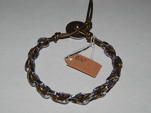 Bracelet - B20 - Olive Leather - Muggie Jewelry
