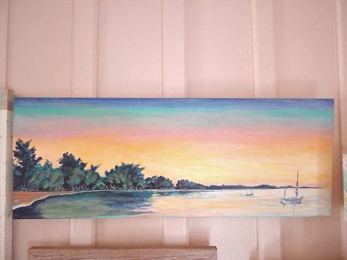 """""""Sunset at the Landing"""" - Original Art - Anita Whitney"""