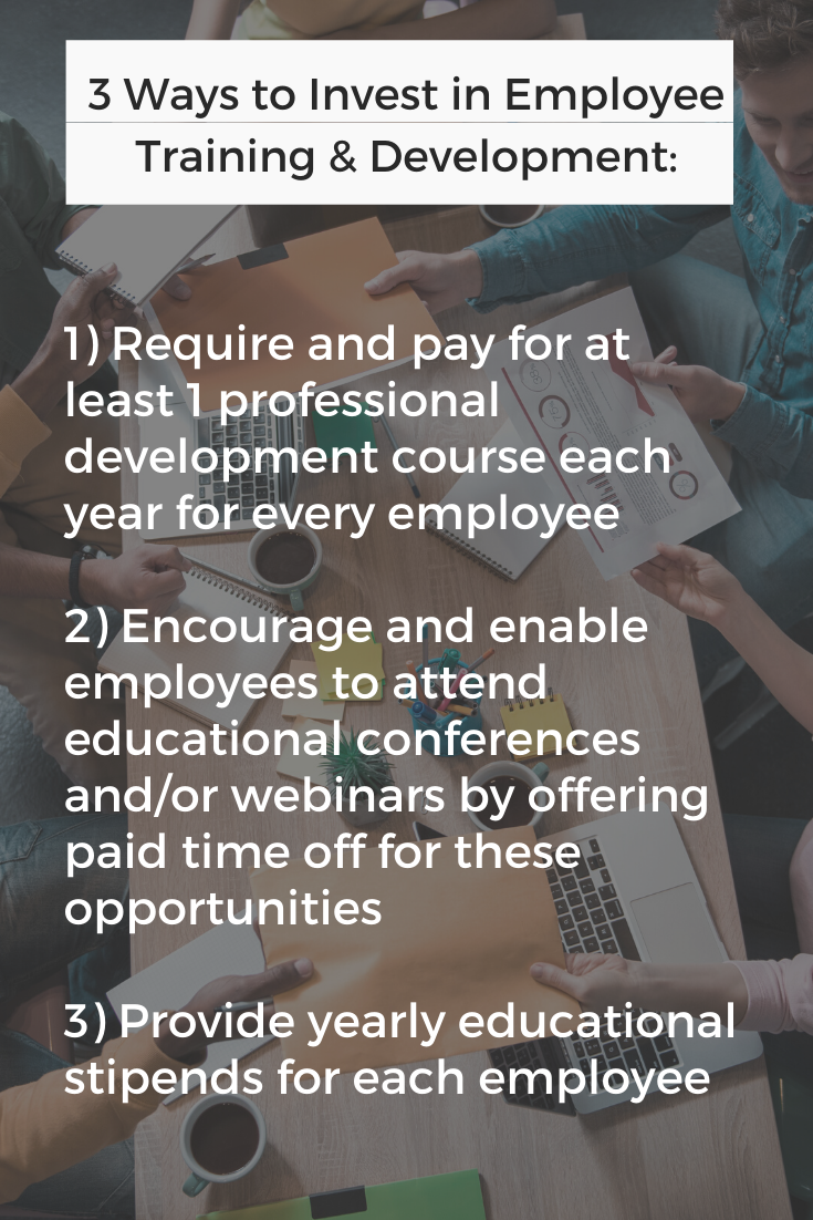 how to invest in employee training and development