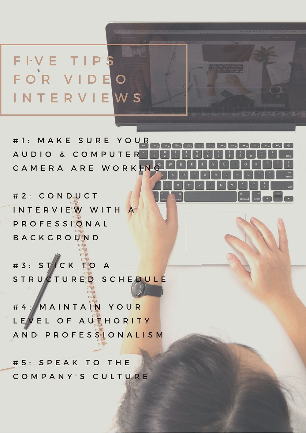 five tips for video job interviews