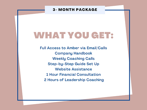 3 Month Package Mompreneur Coaching