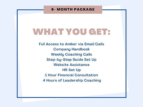 6 Month Package Mompreneur Coaching