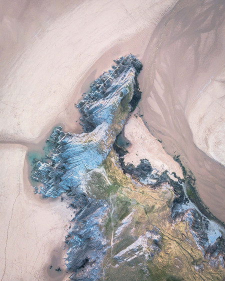 Three Cliffs Bay Aerial