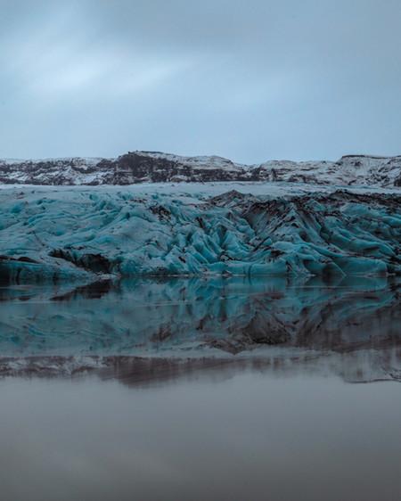 Sólheimajökull Glacier Reflection