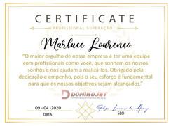 Certificado de Profissional Superação