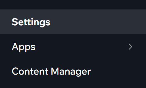 Access Settings from the Wix Dashboard