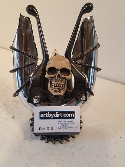 Desktop Skull Business Card Holder