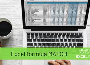 Excel formula MATCH - iespējams, nenovērtētākā Excel meklēšanas formula