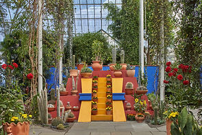 NYBG New York Botanical Gardens Frida Kahlo Art Garden Life Casa Azul Scott Pask Set Theater Theatre