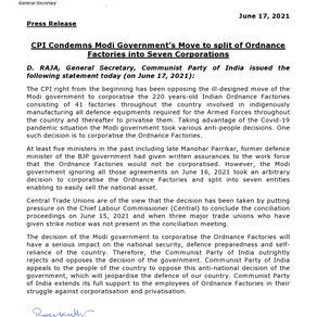 CPI Press Release
