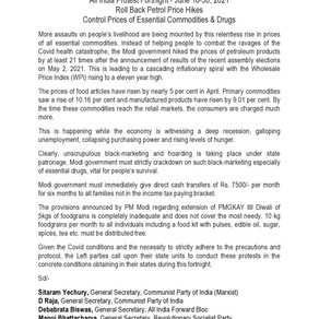 Joint Statement by Left Parties