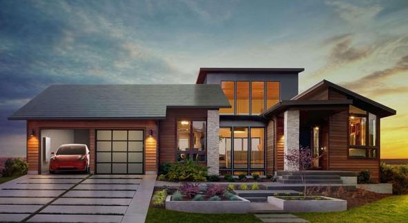 Tesla produz telhas discretas que geram energia solar em larga escala