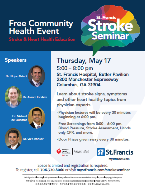 Join Us! St  Francis Stroke Seminar Featuring Dr  Ibrahim