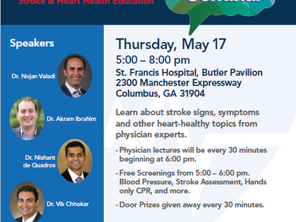 Join Us! St. Francis Stroke Seminar Featuring Dr. Ibrahim