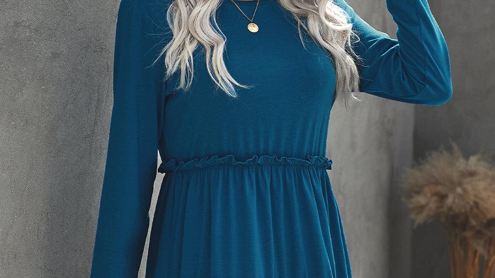 The Margaret Ruffled Knit Dress