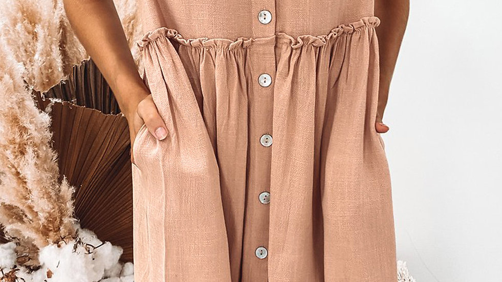 The Rachel Baby Doll Swing Dress - Mauve