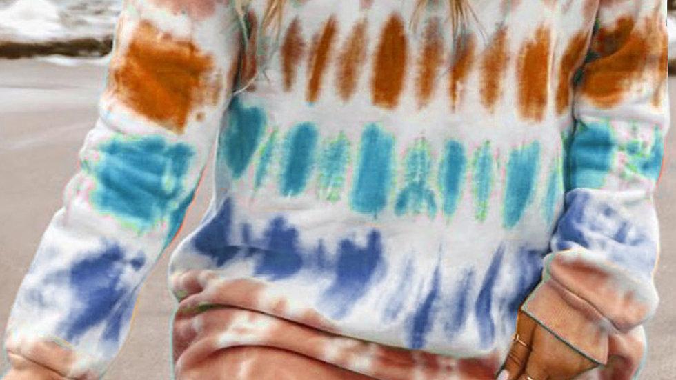 The Layla Tie Dye Sweater Dress