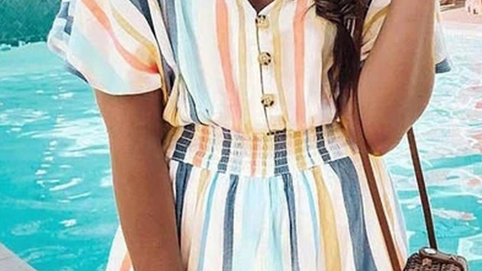 The Milly Striped Romper