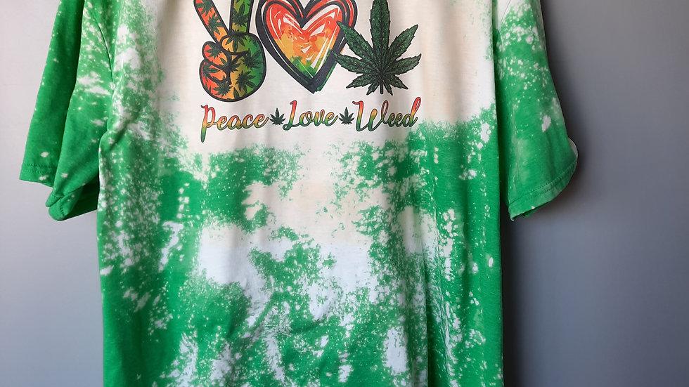 Peace Love Weed Tee
