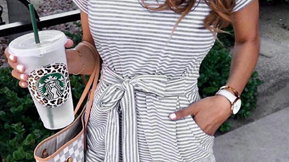 The Matty Striped T-Shirt Dress