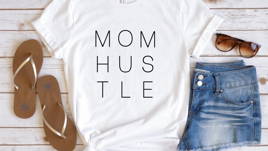 MOM HUSTLE - SR Logo Tee