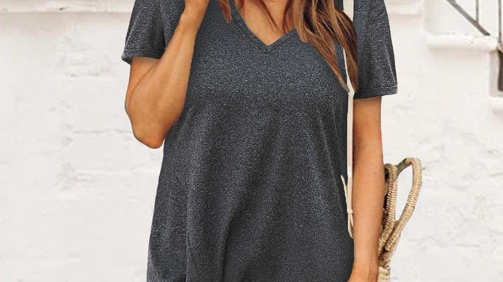The Kennedy Short T-Shirt Dress - Black