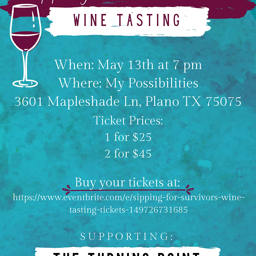 Sipping For Survivors Wine Tasting