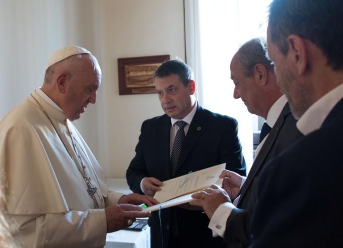 Encuentro con el Papa en el marco de las denuncias de abuso laboral para Qatar 2022