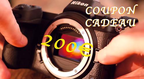 COUPON CADEAU 200€