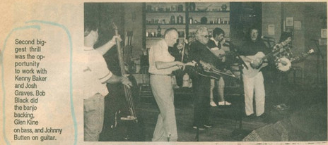 JB, Guitar, with Kenny Baker, Josh Graves, Bob Black, 1992
