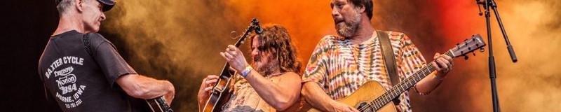 Festival with Hayseed Dixie.  L to R; Johnny, Hippy Joe Hymas, John 'Barley Scotch' Wheeler.