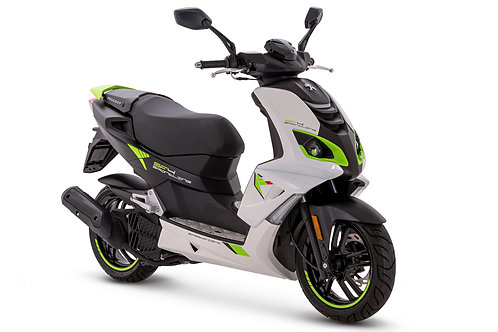 Peugeot Speedfight 4 white fluor green