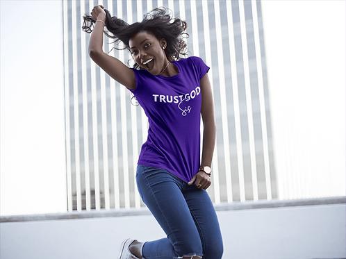 (PRE - ORDER) Trust God Sis Purple Tee