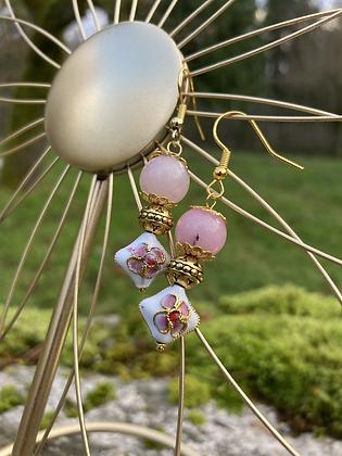 Pink Petals Gold Metals