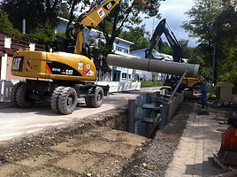 Kanalbau und Bau der Wasserversorgung Augartenweg, Kempten (Allgäu), KKU Kemptener Kommunalunternehmen