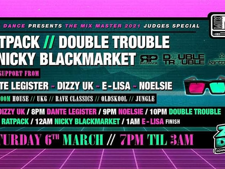 Saturday 6th March Zoom Dance presents Ratpack and a Mix Masters Judge special