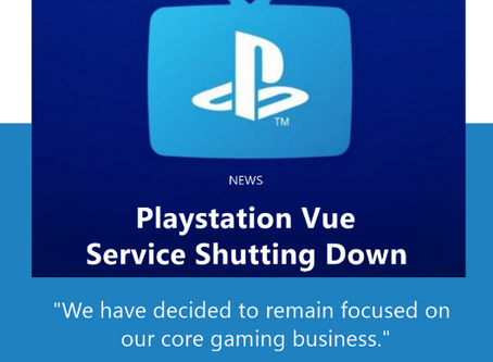 Playstation Vue Service Shutting Down