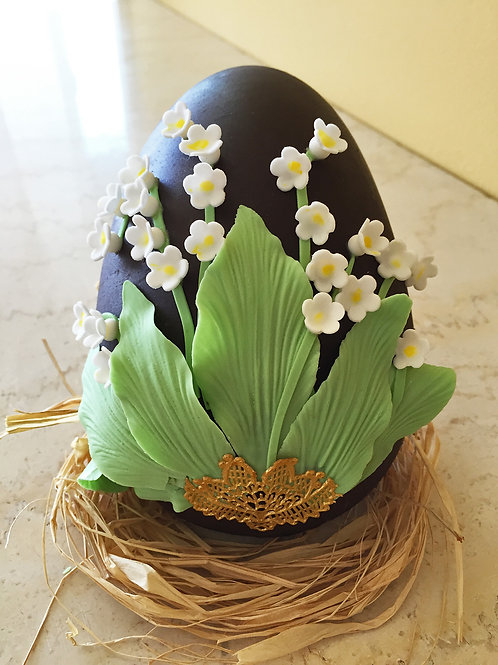 Lily of the Valley Chocolate Egg