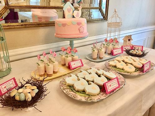 Pastel Bird Theme Birthday Party