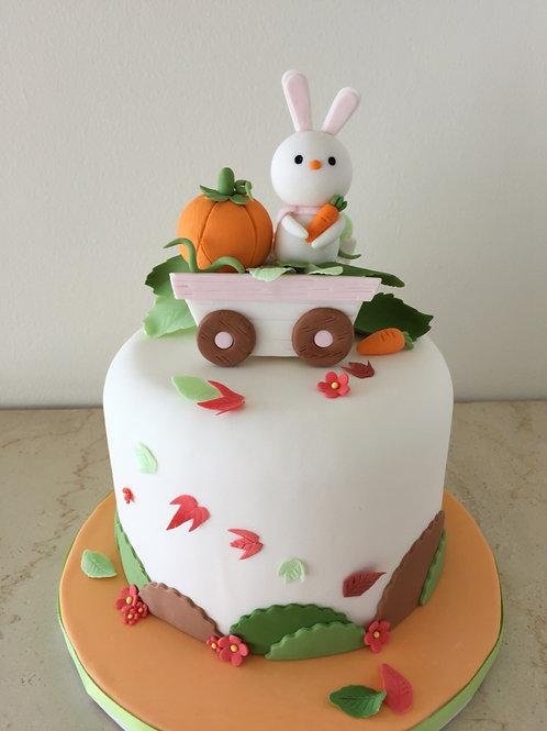 Autumn Love Bunny Cake