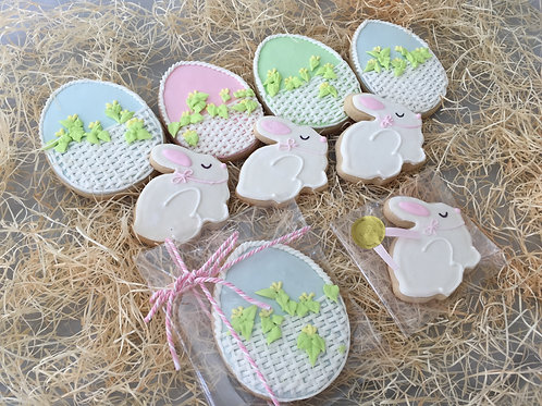 Easter Bunnies and Flower Baskets