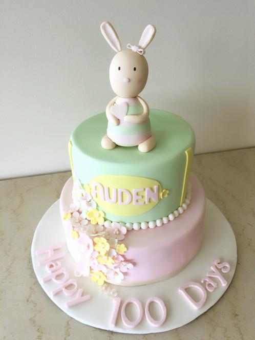 Pastel Bunny Birthday Cake