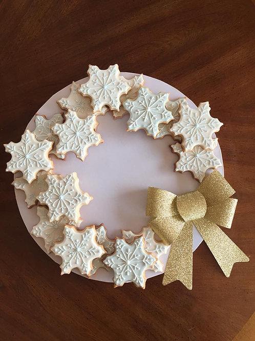 Snowflake Cookies Wreath