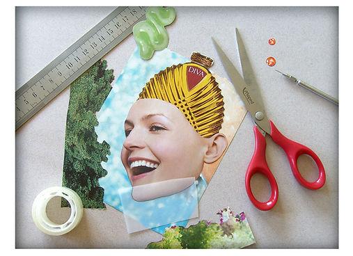 femme papier découpage magazine olivier leduc